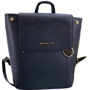 Michael Kors Hayes M leather Backpack bag black